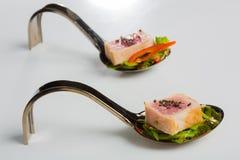 Aperitivos deliciosos de los mariscos - plato del abastecimiento Imagenes de archivo