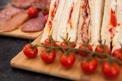 Aperitivos e sanduíches de clube Fotografia de Stock Royalty Free