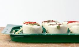 Aperitivos hechos del queso blanco Fotos de archivo
