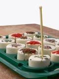 Aperitivos hechos del queso blanco Foto de archivo libre de regalías
