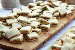 Aperitivos pequenos dos sanduíches imagens de stock royalty free