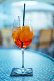 Aperol Drink at Hotel Table Royalty Free Stock Photo