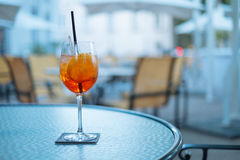 Aperol Drink at Hotel Table at summer day in South America Stock Photography