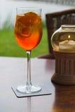 Aperol in einem Glas Stockfotografie