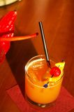 Aperol Sour. An aperol sour on the bar Royalty Free Stock Photos