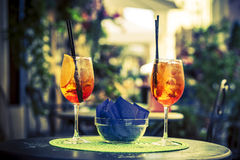 Aperol Spritz Cocktail Stock Photos
