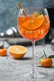 Aperol Spritz o cocktail Foto de Stock Royalty Free