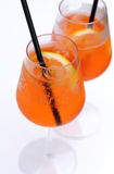 Aperol spritz at swimming pool Royalty Free Stock Photo