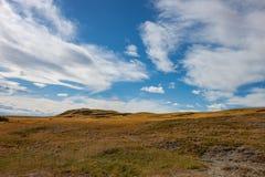 Aperta campagna di rotolamento in Alberta del sud Fotografia Stock Libera da Diritti