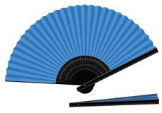 Aperto-chiuso blu del ventaglio Fotografia Stock Libera da Diritti