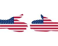 Aperto de mão americano Imagens de Stock