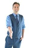 Aperto de mão considerável do homem de negócio Imagem de Stock