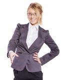 Aperto de mão da mulher de negócio Imagem de Stock Royalty Free