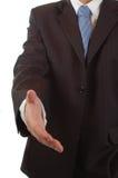 Aperto de mão do homem de negócio Foto de Stock Royalty Free
