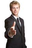 Aperto de mão do homem de negócios fotos de stock royalty free