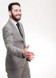 Aperto de mão do homem de negócios Foto de Stock