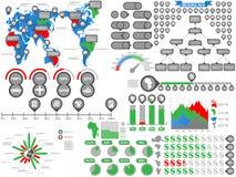 Aperto de mão do homem de negócios de Infographic Imagens de Stock