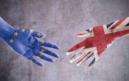 Aperto de mão do negócio de Brexit fotografia de stock