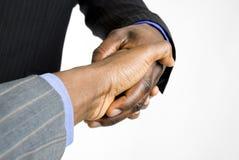 Aperto de mão do negócio do americano africano Fotografia de Stock Royalty Free