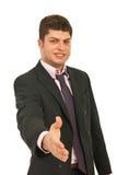 Aperto de mão novo do homem de negócio Fotografia de Stock Royalty Free