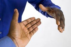 Aperto de mão do negócio do americano africano Fotos de Stock