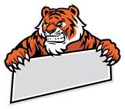 Aperto do tigre a bandeira Imagem de Stock