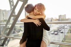 Aperto lésbica bonito dos pares Amor e paixão entre as duas meninas imagem de stock royalty free