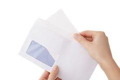 Apertura de la carta Imágenes de archivo libres de regalías