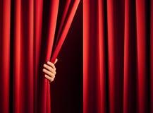Apertura de la cortina Fotos de archivo libres de regalías