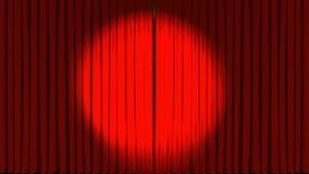 Apertura de las cortinas de la etapa del teatro ilustración del vector