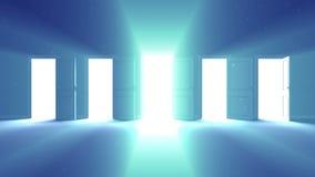 Apertura de las puertas almacen de metraje de vídeo