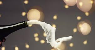 Apertura de una botella de Champán Fotografía de archivo