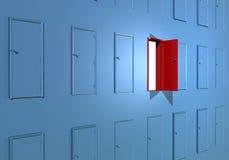 Apertura del éxito del clave de la puerta Fotografía de archivo libre de regalías
