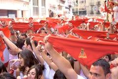 Apertura del festival del San Fermin a Pamplona Immagine Stock