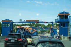 Apertura del ponte di Fremont Fotografie Stock