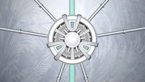 Apertura del portone di fantascienza sullo schermo verde 3d rendere royalty illustrazione gratis