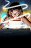 Apertura della cassa magica Fotografie Stock