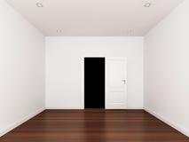 Apertura della porta, stanza vuota, interno 3d Immagine Stock Libera da Diritti