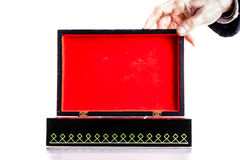 Apertura della scatola nera Fotografie Stock