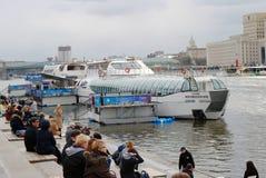 Apertura di stagione di navigazione a Mosca Fotografia Stock Libera da Diritti
