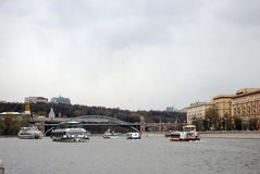 Apertura di stagione di navigazione a Mosca Fotografie Stock Libere da Diritti