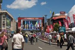 Apertura en el EURO 2012 de la zona del ventilador de Kyiv Fotos de archivo libres de regalías