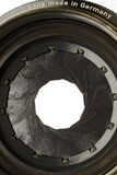 Aperture. A lens aperture blades opening stock photography