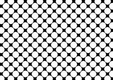 Abstract spotted background. Abstract illustration of white spots on black background Stock Photo