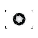 Aperture black vector art illustration Stock Image
