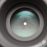 Camera lens aperture blades Royalty Free Stock Image