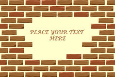 Aperture in brick wall for text Royalty Free Stock Photo