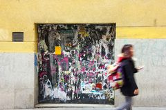 Graffiti Poster Door Royalty Free Stock Photography