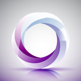 Aperture logo. Abstract logo with eye like shutter diaphragm Stock Images