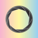 Aperture 9. Styled aperture lens. Vector illustration Royalty Free Stock Photography